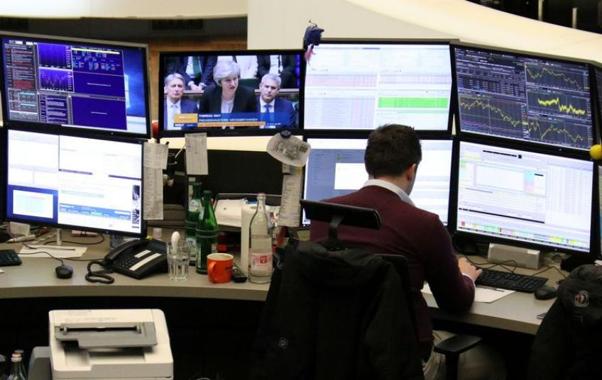 European shares give up earlier gains after shocking US sales data