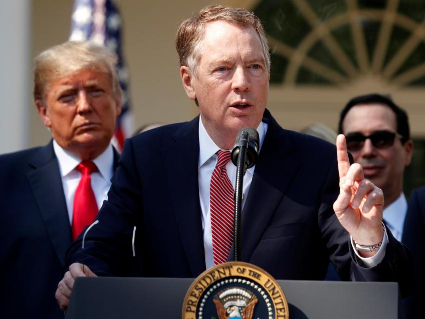 Wall St. sours after Lighthizer comments on trade talks