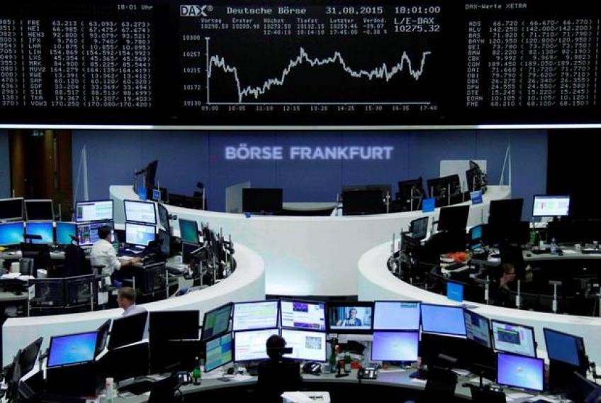 European shares extend loss on perilous PMI yield curve ring alarming bell
