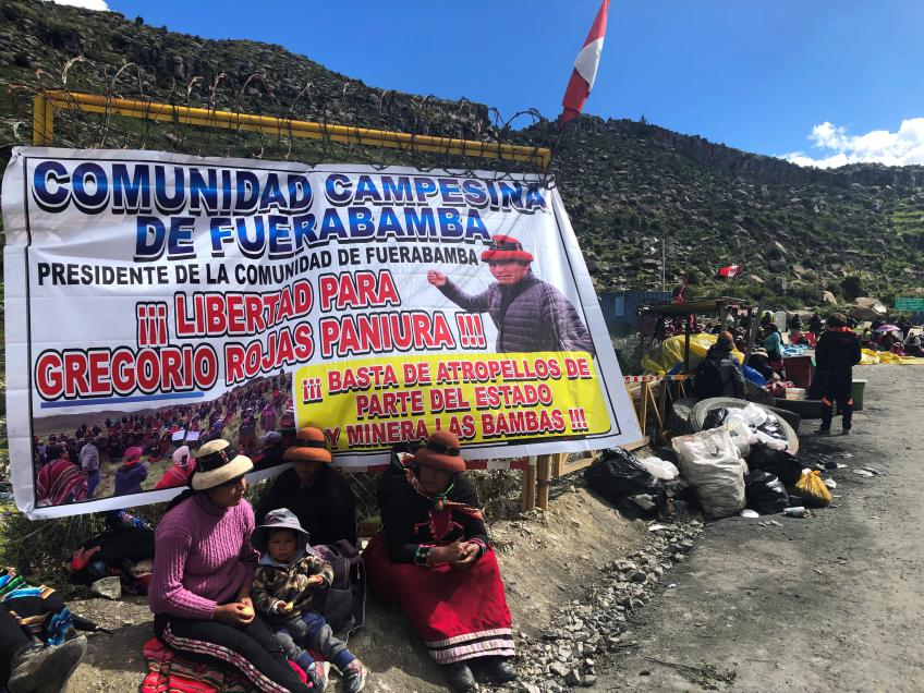 Peru's native community ends blockade on China's MMG-controlled copper mine