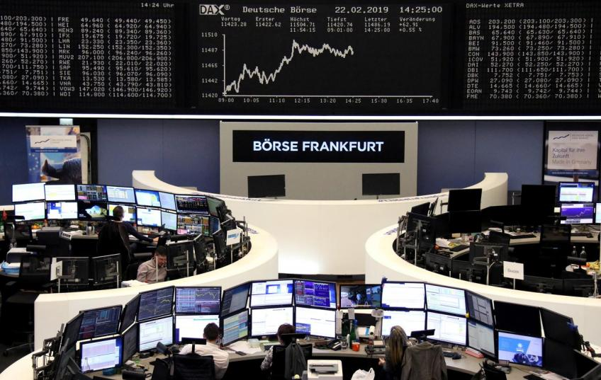 European shares hit eight-month high over sentiment boost in Germany