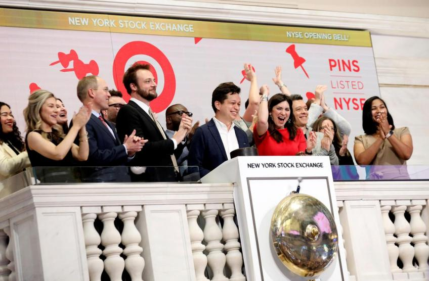 Pinterest shares surge in market debut after IPO
