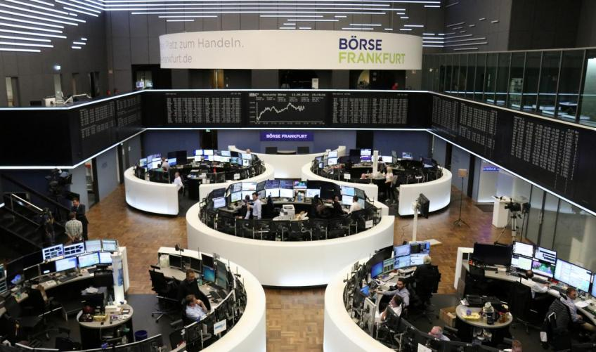 European shares totter as EU commission curbed bloc's growth forecast