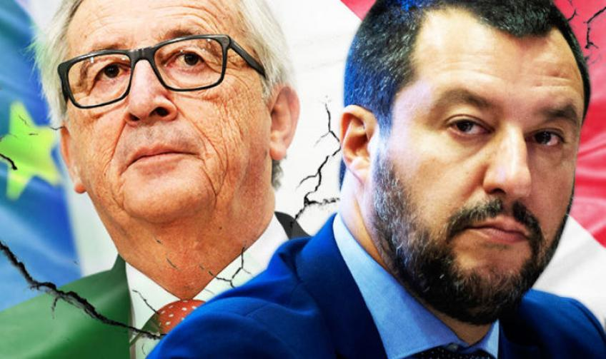 Italy says won't fight EU over budget issue, debt-crisis deepens