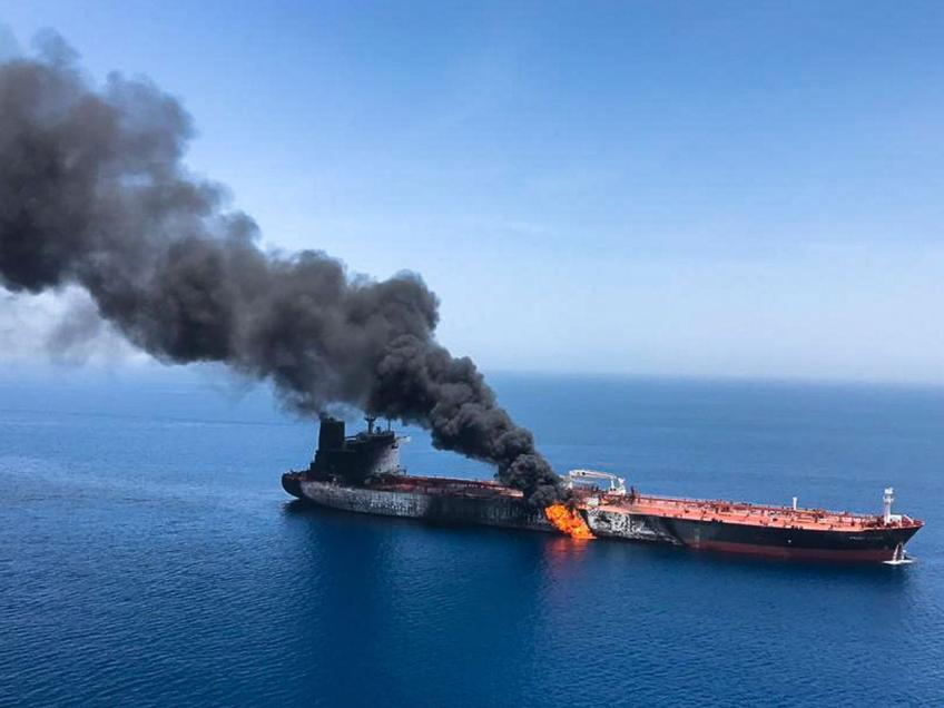 Crude rises on tanker attack offshore of Iran, Oman, global stocks rise