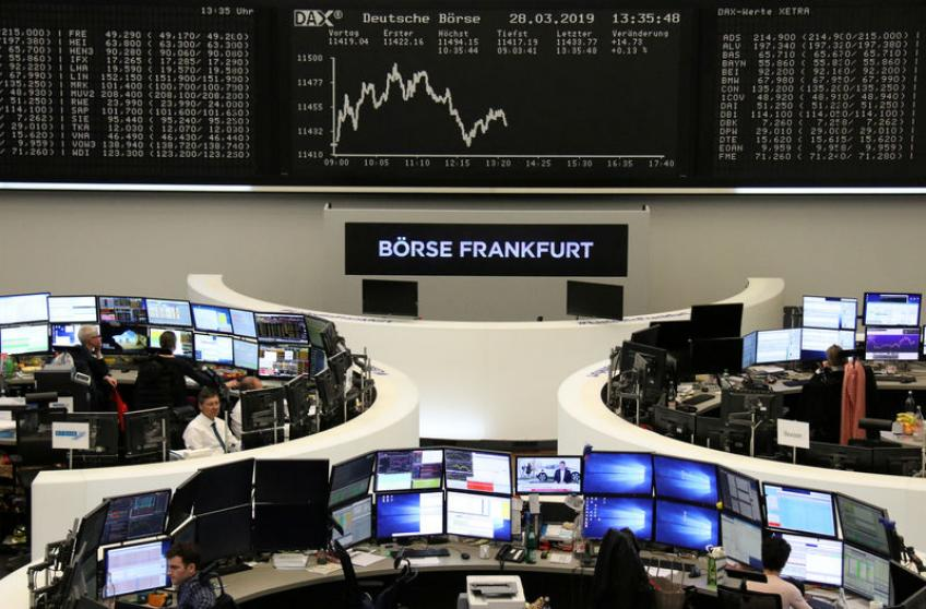 European shares lifted higher on solid earnings', trade optimism