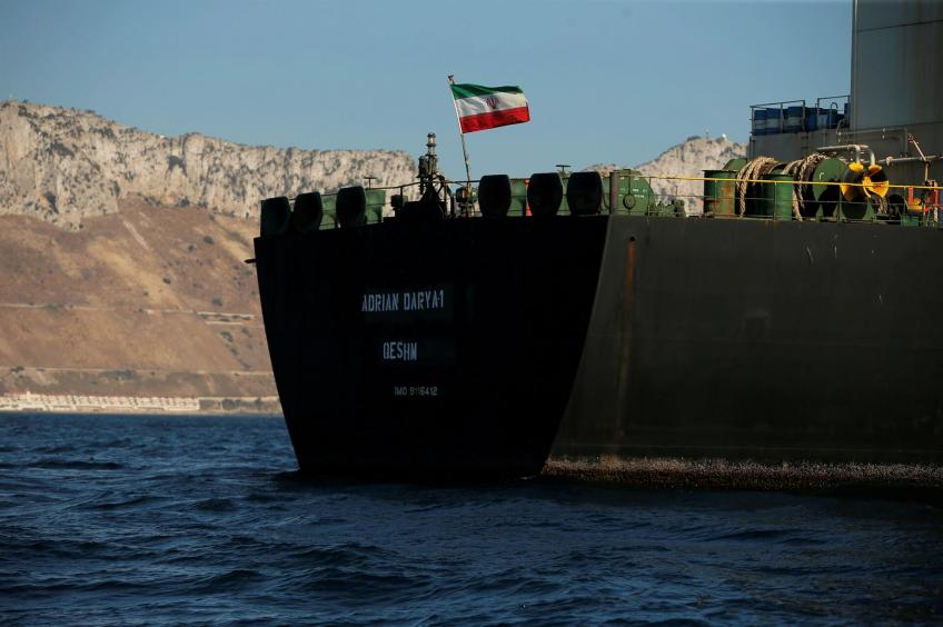 Seized Iranian tanker departs for Kalamata, Greece