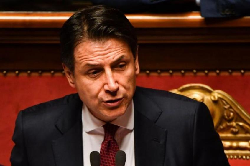 Italy's Conte makes an angry exit, denounces Salvini for sinking govt.