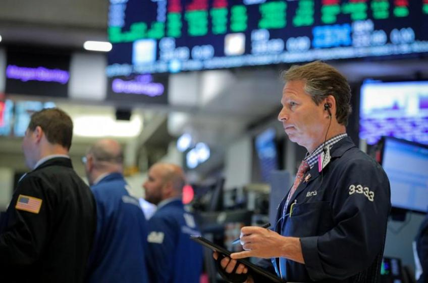Wall Street rally halts in a choppy session as financials falter
