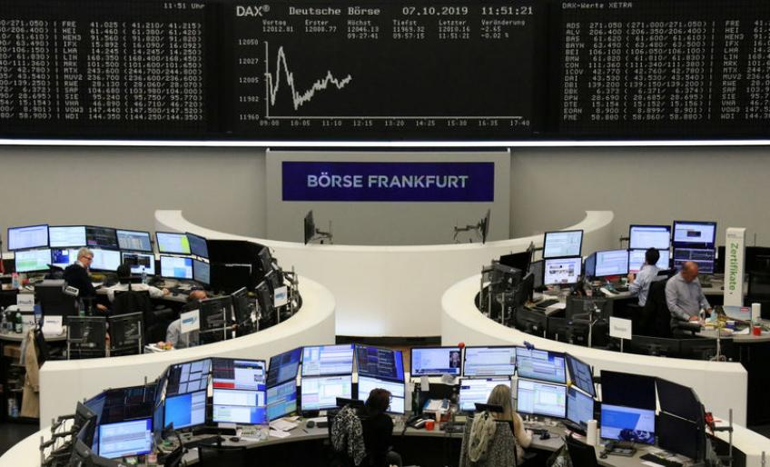 European bourses tumble on trade woes, Brexit anxiety, Qiagen curbed 21%