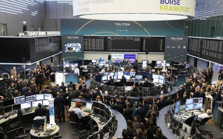 European shares rise on trade hope, Frankfurt's DAX up by 1%