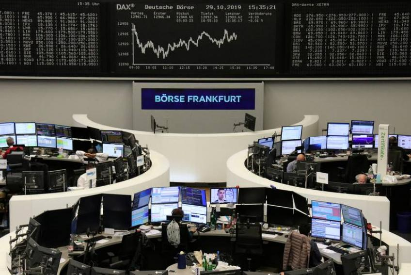 European shares clock strong gain to end week on robust US & China data
