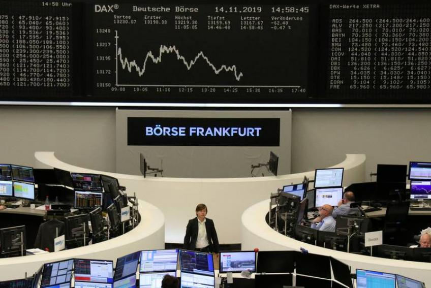 European shares notch sixth straight weekly gain on rosy trade outlook