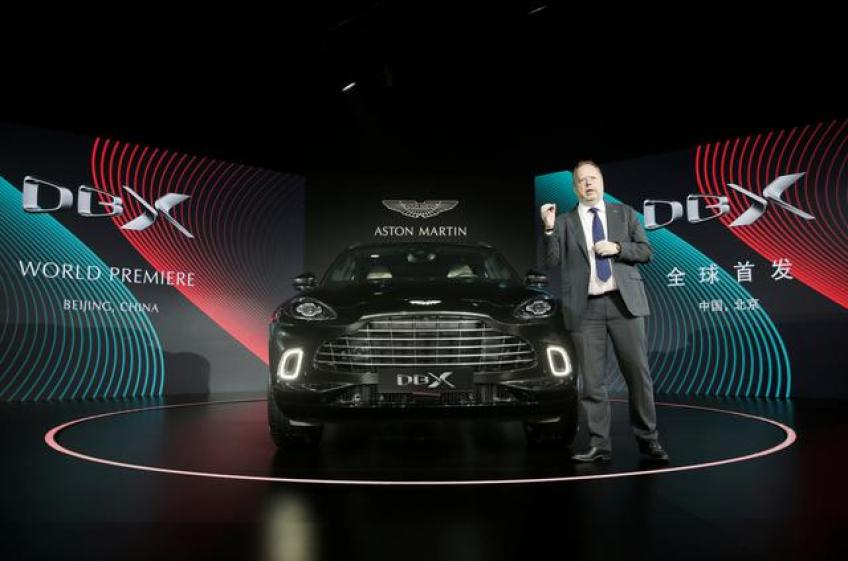 Aston Martin launches first SUV, hopeful of a positive turnaround