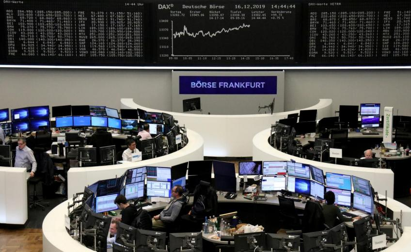 European shares stall four-day rally on Unilever warning, hard Brexit fears