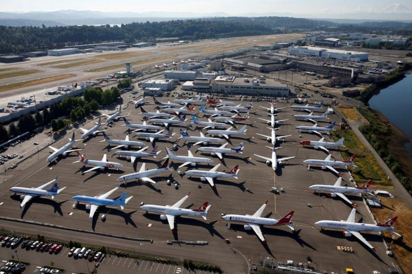 Boeing CEO says expects to resume 737 MAX production before mid-2020