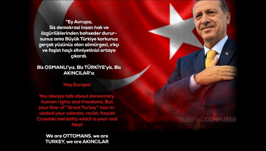 Hackers acting on Turk's interest believed to be behind latest cyberattacks