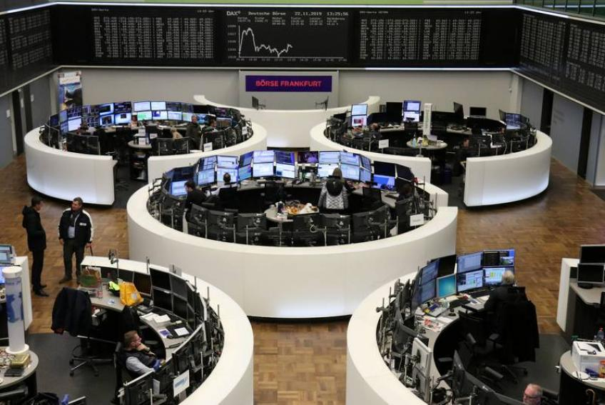 European shares end in the reds as Covid-19 uncertainty dented initial gains