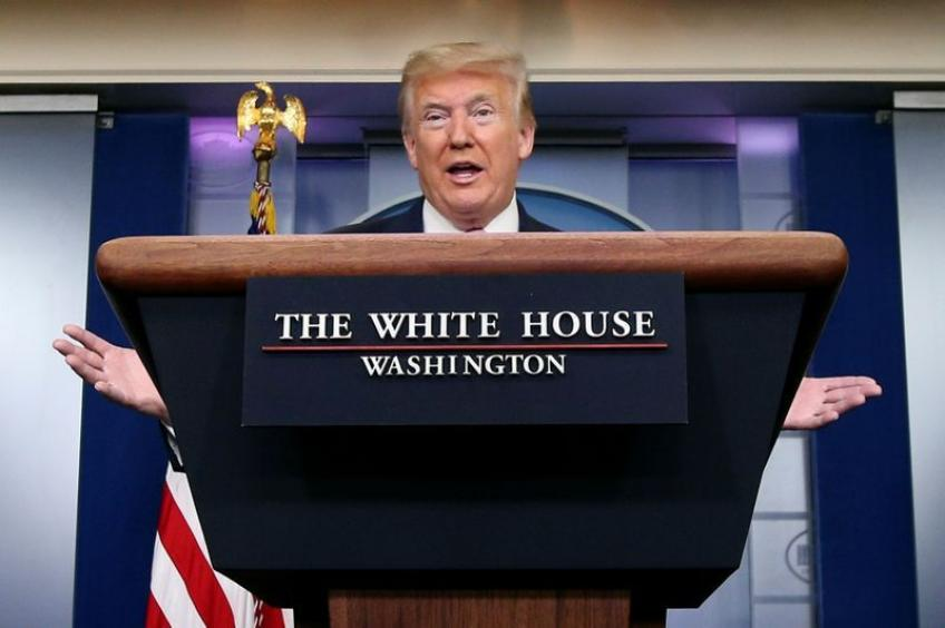 It's my decision when to reopen US economy: Donald Trump in Washington
