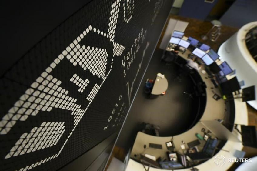 European shares end higher, but log worst week since mid-March
