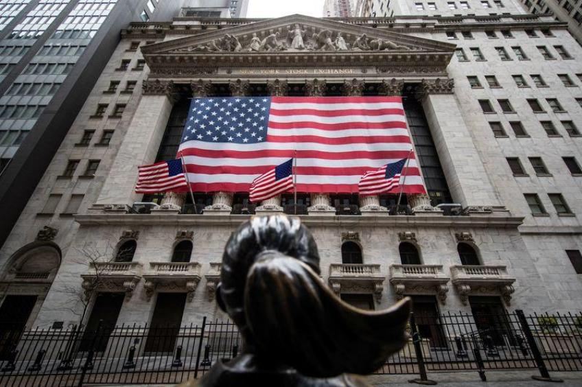 Wall St. retreats from two-month peak on Sino-US tension, dismal data
