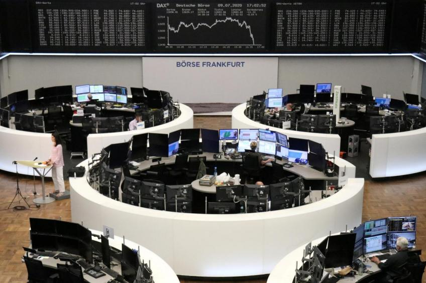 European shares snap three-day long losing run on upbeat economic data