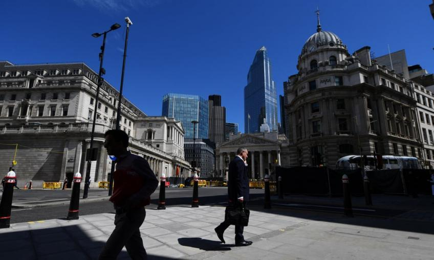 Bank of England says economy will take time to heal, sees 23% contraction