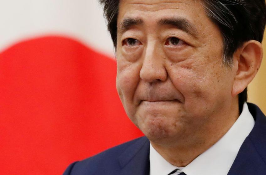 Nikkei falters, yen feathers on news PM Abe resignation looms