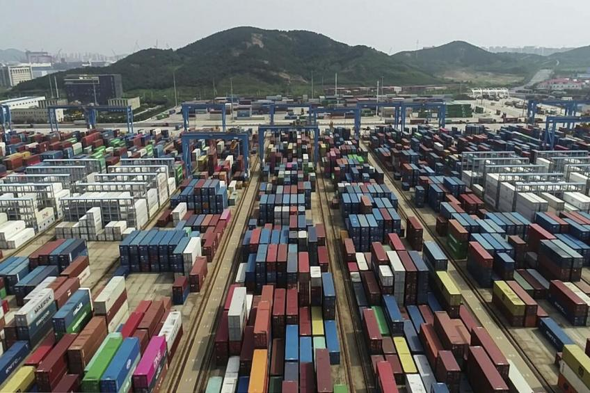 China exports growth quickens in August, import inches lower
