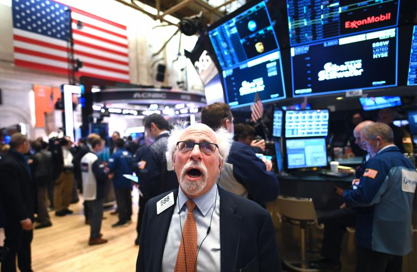 Wall St. ends rollercoaster session lower; Trump's positive virus test rattles market