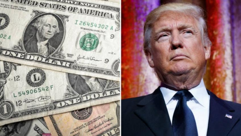 Dollar drowns on stimulus hopes, Trump's dramatic return into the White House