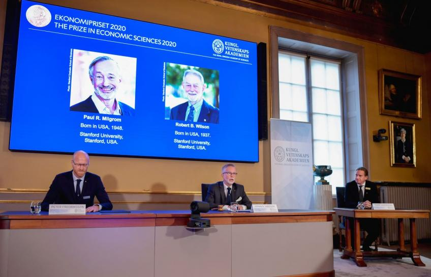 Two American Stanford scholars share Nobel Prize in economics for improving auctions