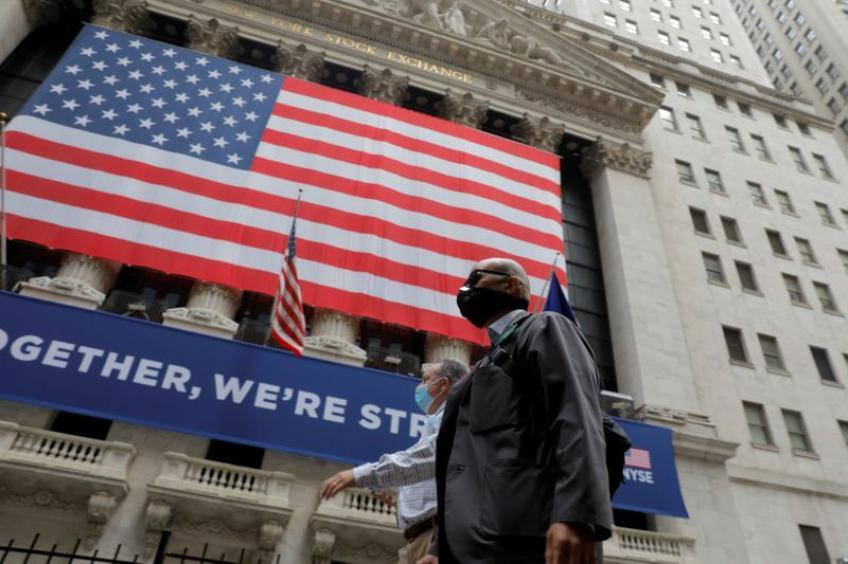 Wall St. ends sharply lower on pandemic hobbles as Dow hits late-July lows