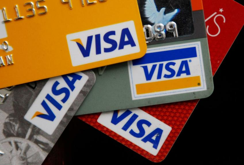 Californian credit card giant Visa Inc. profit tumbles 23% as payment volumes sour