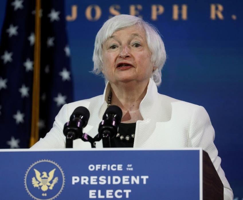 Stocks welcome Yellen's call to 'act big' on coronavirus spending