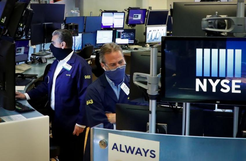 Wall Street climbs ahead of Amazon, Alphabet earnings; stimulus in focus