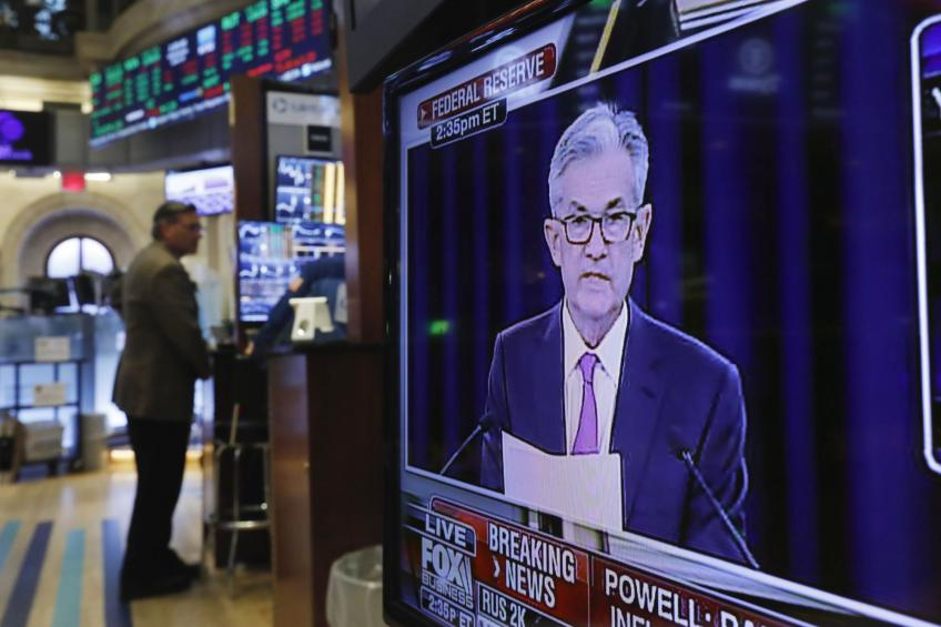 US stock futures advance after sharp decline ahead of Fed's Powell's speech