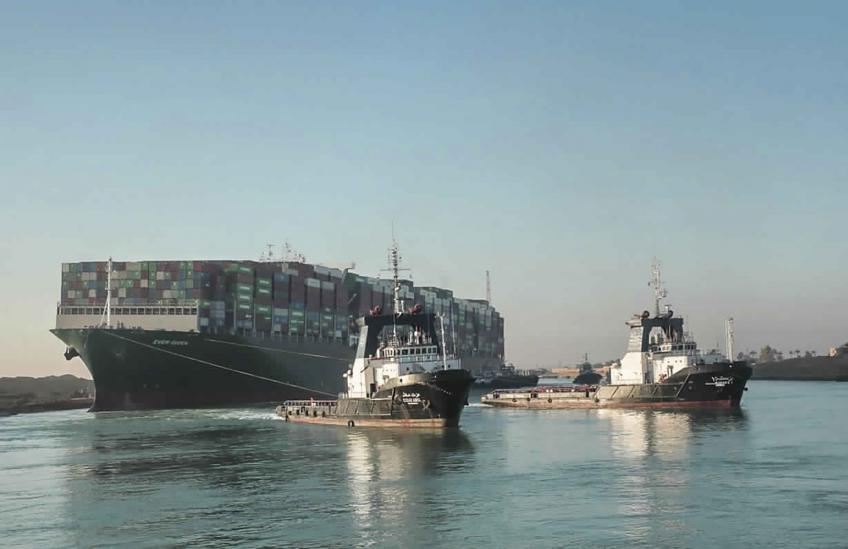 Traffic resumes in Suez Canal as stranded ship floats, but supply dins may last weeks