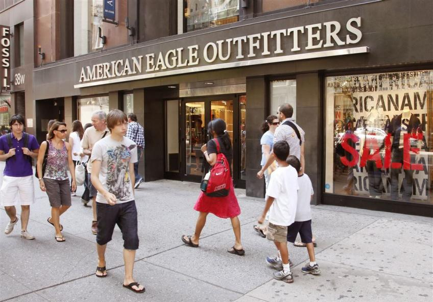 Pittsburgh's American Eagle sees sales rising for apparel