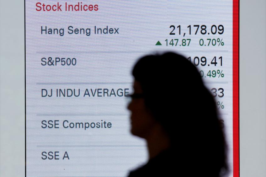Global shares close near record highs after upbeat eurozone data