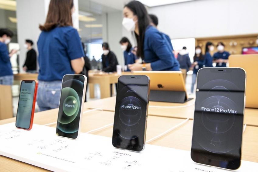 Cupertino's Apple Inc lowers growth forecast, says chip shortage reaches iPhones