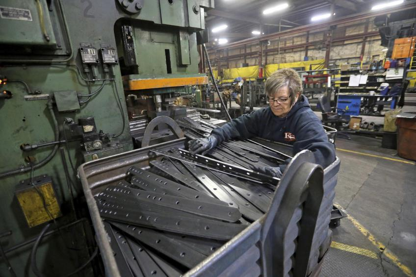US factory goods' orders gather steam as factory activity keeps crawling higher