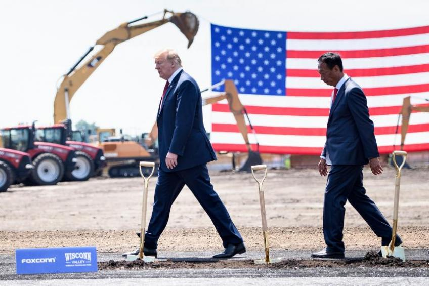 Foxconn promises to build Wisconsin plant following a talk with Trump