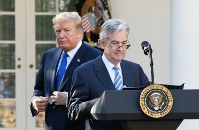 Trump says 'not thrilled' with Fed, but Powell's job safe